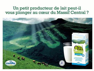 lait candia t Le lait solidaire de Candia saffiche en 4x3